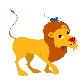 Сказка о льве и мышке