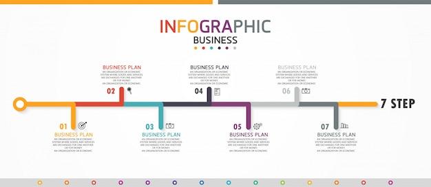 インフォグラフィック教育ビジネステンプレート