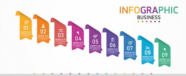 インフォグラフィックは、プロセス、プレゼンテーション、レイアウト、バナー、情報グラフに使用できます。