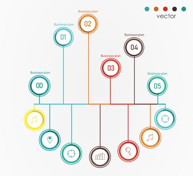 Диаграмма бизнес и образование векторные иллюстрации