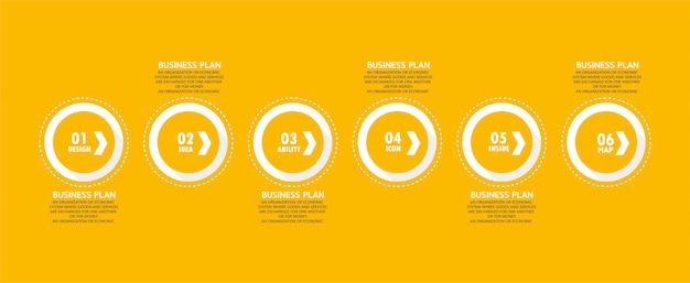 Инфографические бизнес-диаграммы и образовательные схемы следуют шагам, которые используются для презентации презентации вместе с исследованием.