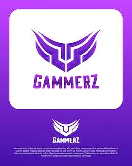 ゲームの抽象的なロゴデザインテンプレート