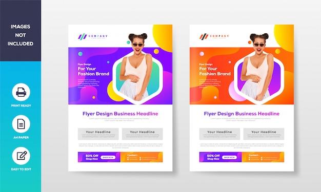 Корпоративный бизнес флаер дизайн шаблона