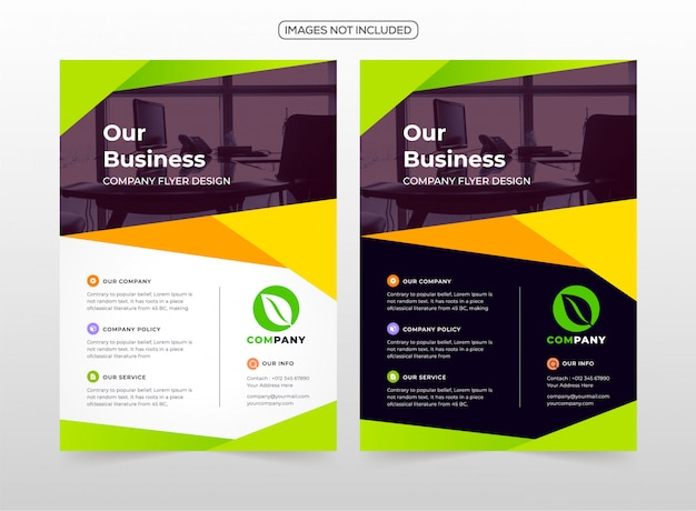 プロフェッショナルビジネスチラシデザイン