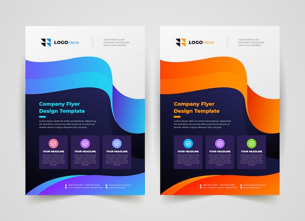Творческий бизнес флаер шаблон