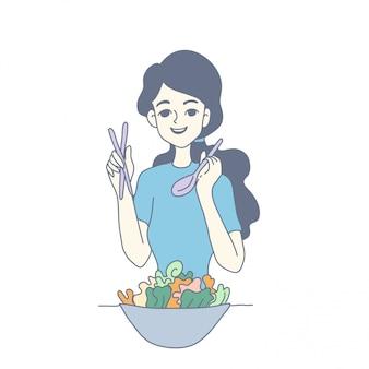 Девушка дизайн персонажей вектора
