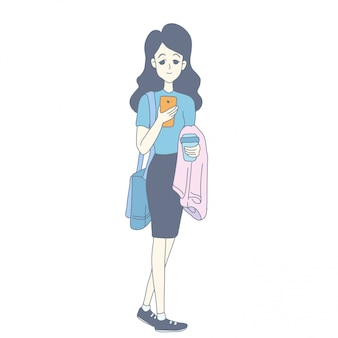 ベクトルの女の子のキャラクターデザイン