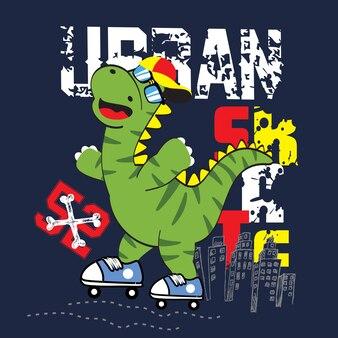 都市スケーターの漫画ベクトルアート