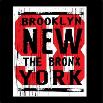 Нью-йорк бруклин с типографикой номера