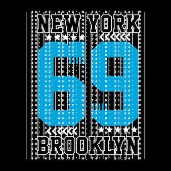 Нью-йоркская футболка макет искусства