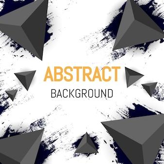 抽象的な三角形の背景デザイン