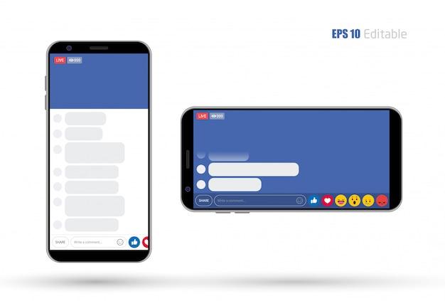 ソーシャルメディアモバイルアプリの新しいフィード