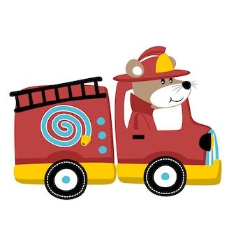 消防士漫画ベクトル