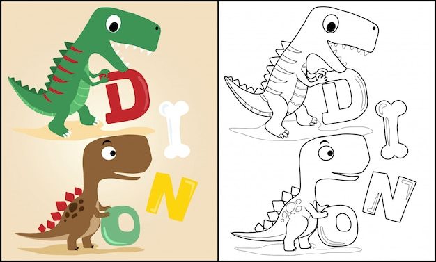Мультфильм динозавров с буквами