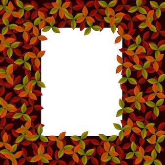 秋の赤とオレンジの葉のタイポグラフィポスター
