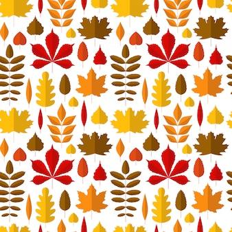 秋の葉のシームレスパターン