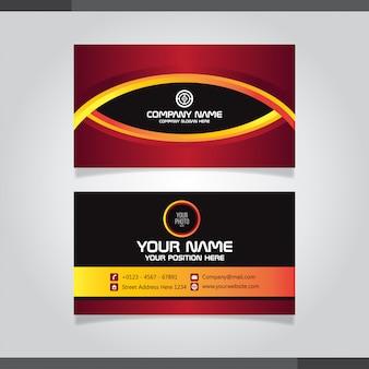 Красный и оранжевый шаблон визитной карточки - дизайн с мотивом глаза
