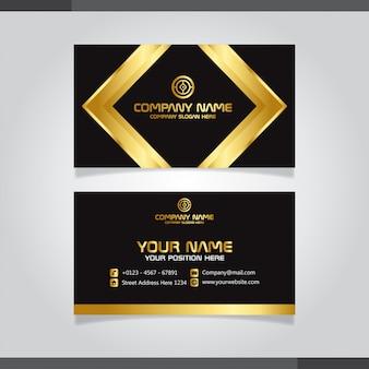 プロフェッショナルな金と黒の名刺デザイン