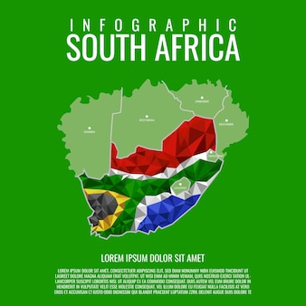 南アフリカのインフォグラフィック