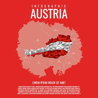 Карта австрии инфографики