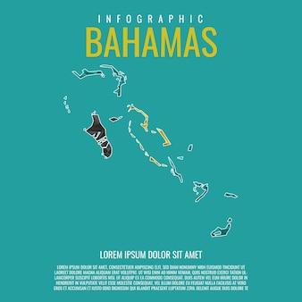バハマ地図インフォグラフィック
