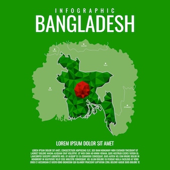 Бангладеш карта инфографики