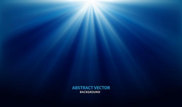 ライトと抽象的な青い背景ベクトル