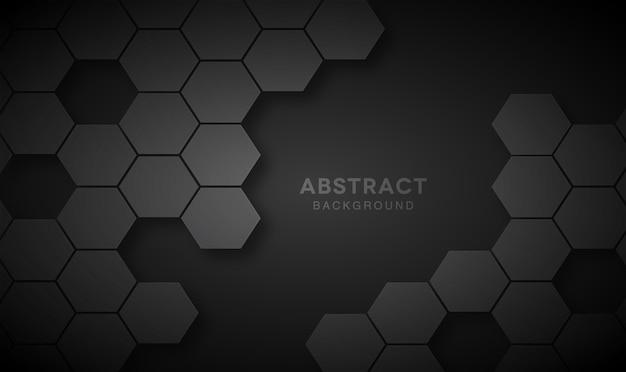 幾何学的医療コンセプトの黒い背景。ハニカム
