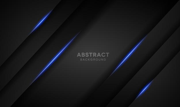 青色のライトと暗い背景のオーバーラップ層
