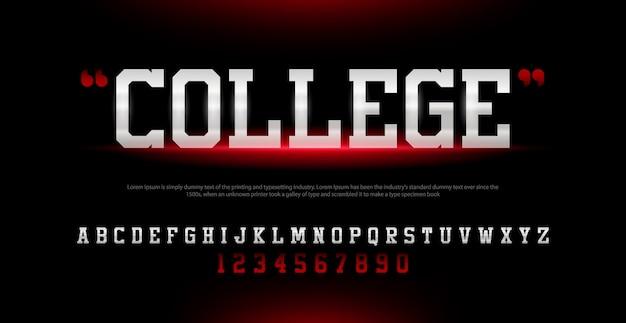 Спорт современный алфавит шрифт и номер. типография шрифты городского стиля