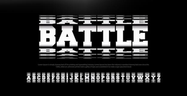 現代の抽象的な戦いフォントアルファベット