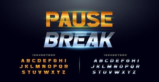 Спорт современная типография курсив алфавит шрифты и номер набора