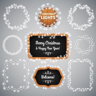 黒いクリスマスライト