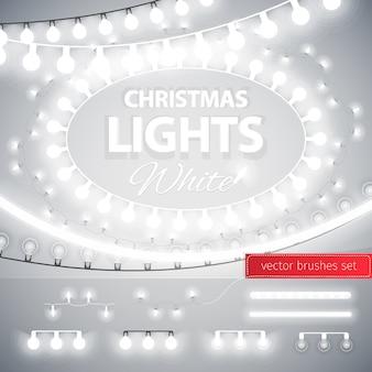 ホワイトクリスマスライトデコレーションセット