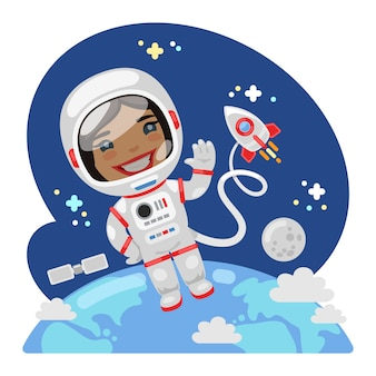 宇宙の漫画宇宙飛行士