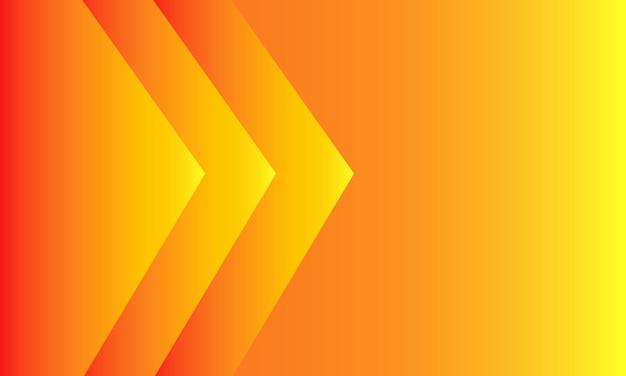 オレンジ色のグラデーションの背景。モダンスタイル