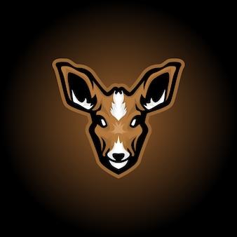 トナカイのマスコットのロゴ