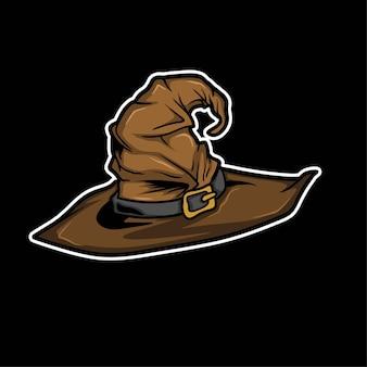 Хэллоуин ведьма шляпа вектор
