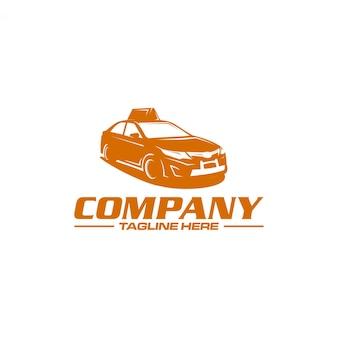 Логотип силуэт такси