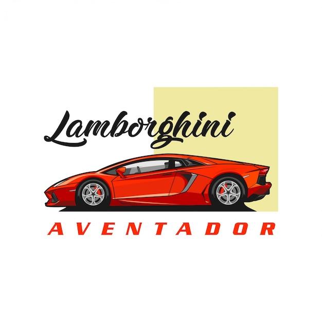 Вектор ламборджини авентадор