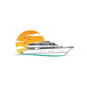 Логотип круизного корабля