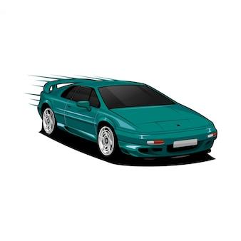 Скоростной автомобиль иллюстрационная