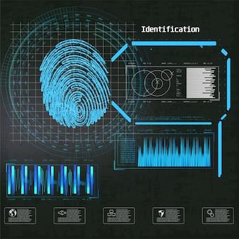 サイバーロックセキュリティイラスト。ビジネスイラスト。未来的なインフォグラフィック。ネットワークセキュリティ、安全性、プライバシー。未来的な技術のハッドスクリーン。