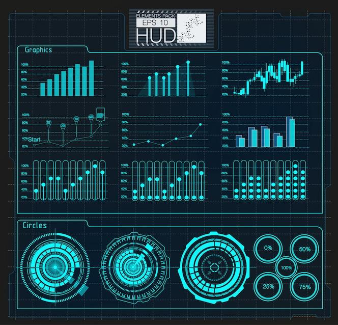 Цветные инфографические цифровые иллюстрации. тема информационной панели