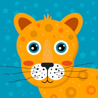 子供の漫画の熱帯動物