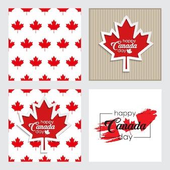 Поздравительная открытка с днем канады