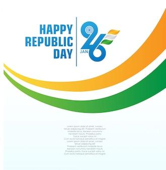 幸せなインド共和国記念日の背景