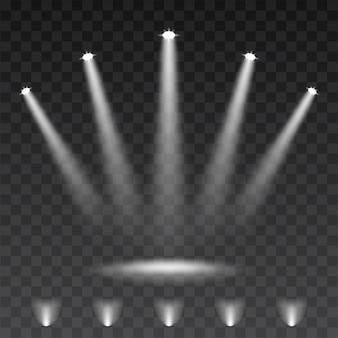 透明な背景にスポットライト