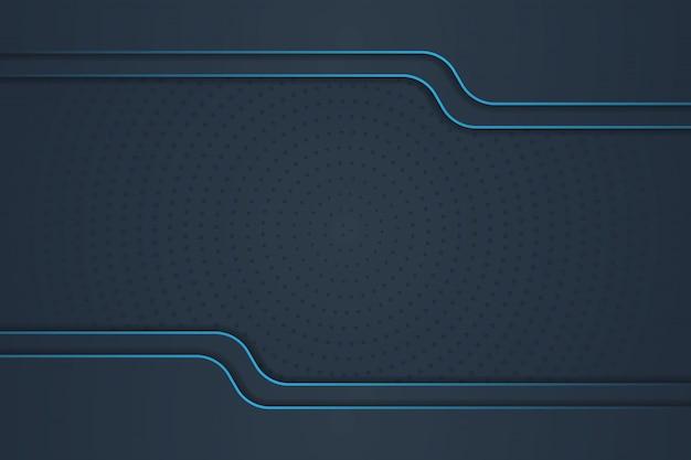 抽象的な形、青い線、ハーフトーングラデーションで豪華な背景