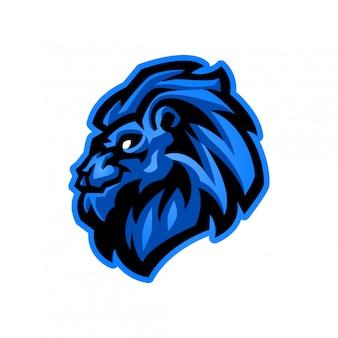 Шаблон логотипа талисмана головы льва киберспорта для различной деятельности